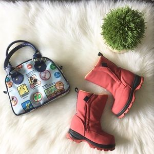 🛷 Lands End ✪ Waterproof Winter Snow Boot ✪ Red ✪